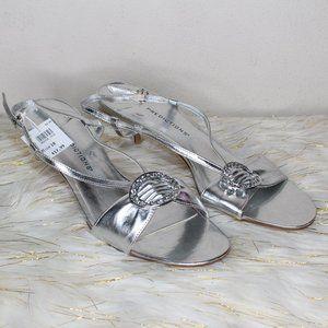 Metallic Silver Short Heel (Brand NEW) never worn